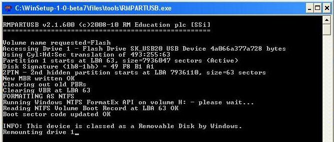 windows xp установить с флешки