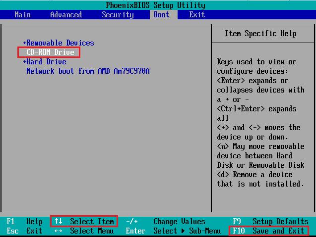 как установить xp с диска