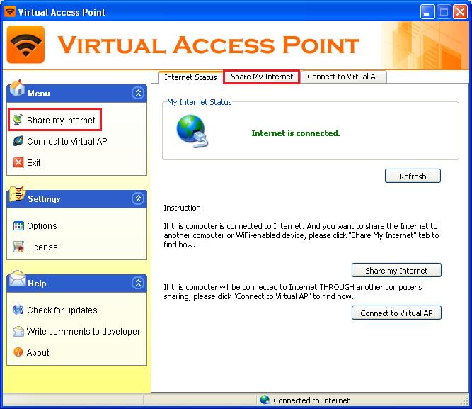 создать точку доступа windows xp