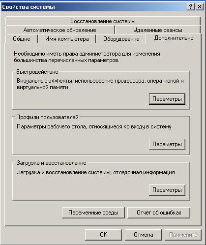 win xp файл подкачки