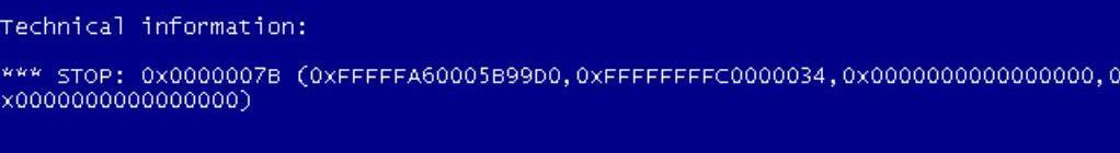 синий экран windows 7